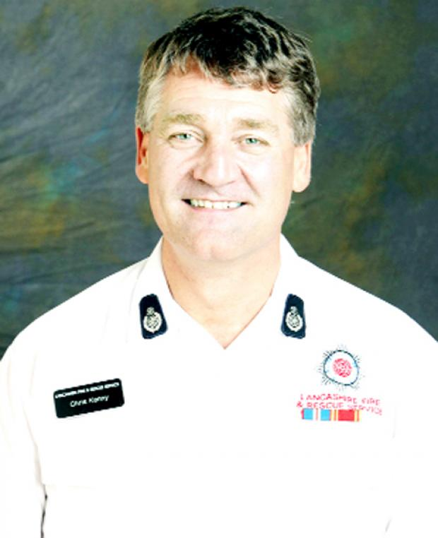 Chief fire officer Chris Kenny