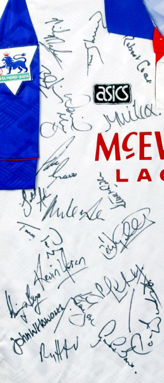 The signed shirt