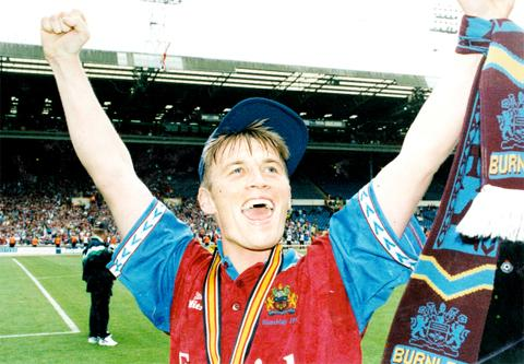 Gary Parkinson celebrates at Wembley in 1994
