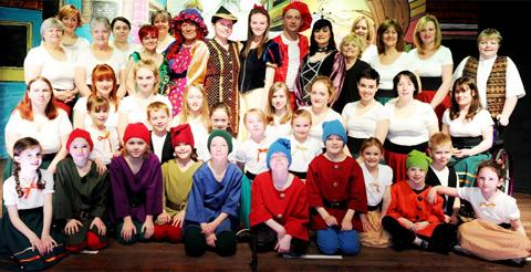 The cast of Snow White and the Seven Dwarves