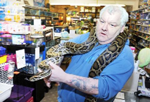 Thomas Robertson of Robertson's Reef and Reptile Shop