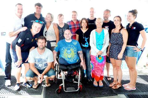 Rick in Australia with family and friends