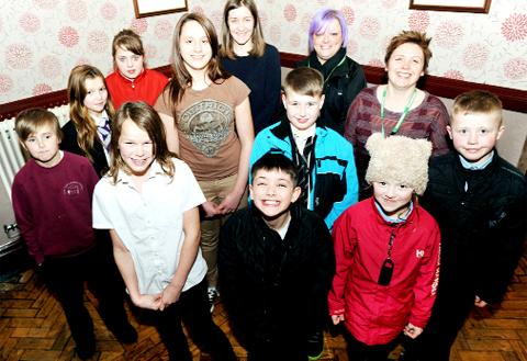 Waterside Youth Club members
