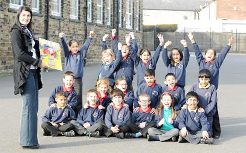 Great Harwood primary school pupils wish the Queen well