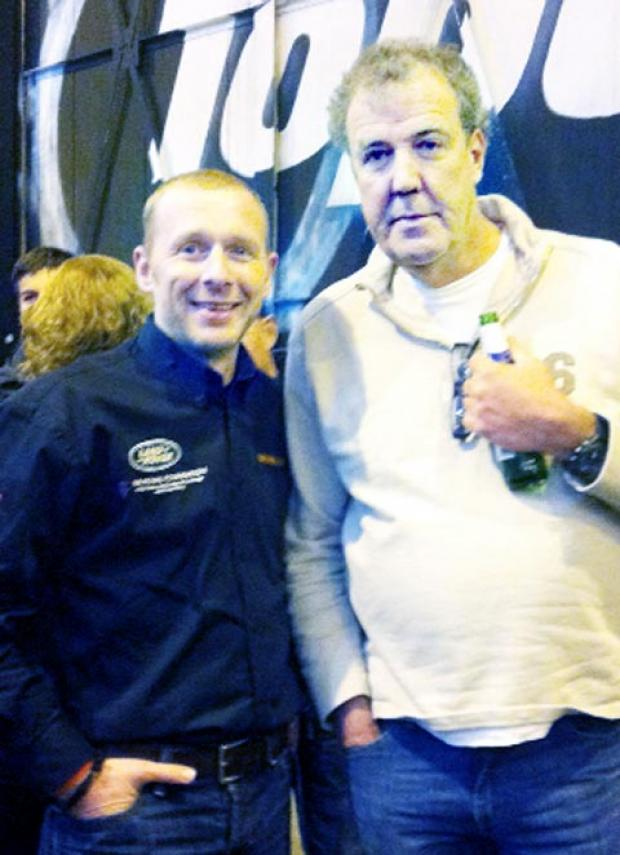 Justin Birchall with Top Gear Jeremy Clarkson