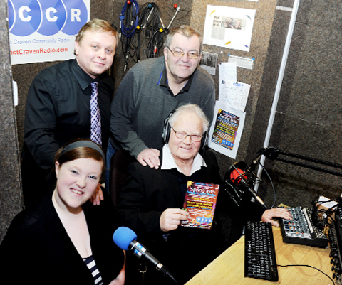 Staff at West Craven Community Radio station, based in Victoria Road, Earby are appealing for fundraising so they can buy a, FM licence. From the left, Natasha Harris, James Jackman, Morris Horsfield and Keith Bailey.