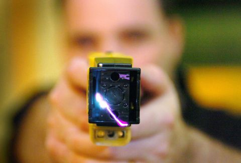 East Lancs police officer who tasered blind pensioner can keep job