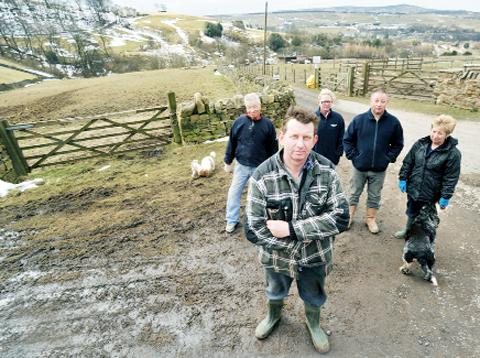 Kev Partington, Michael Riley, Linda Sanderson and Lee and Barbara Partington are concerned about plans for a bridleway in their area