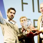 WINNER Climber and film-maker Alastair Lee from Blacko receives his award at the prestigious ceremony