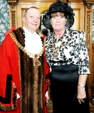 Burnley mayor, Frank Cant, pictured with his mayoress Gillian, opened the car wash