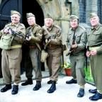 Members of the 'Home Guard' raise funds for Christ Church in Chatburn
