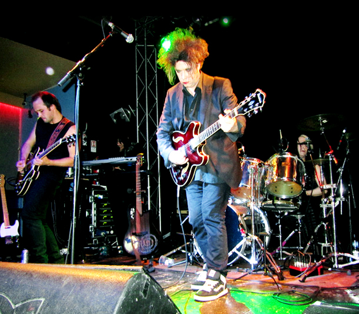 The Cureheads on stage