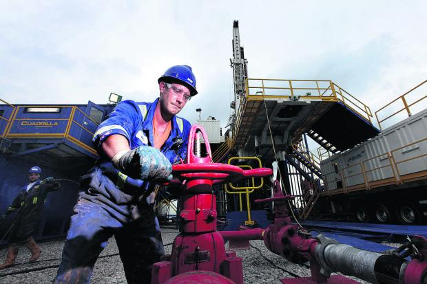 Lancashire Telegraph: A fracking plant in operation in Lancashire