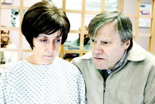 Julie as Hayley, with David Neilson as Roy