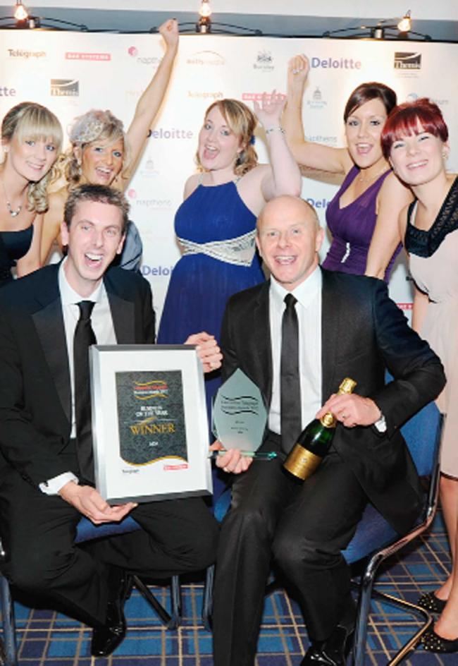 The team from MDA celebrate their award win last year
