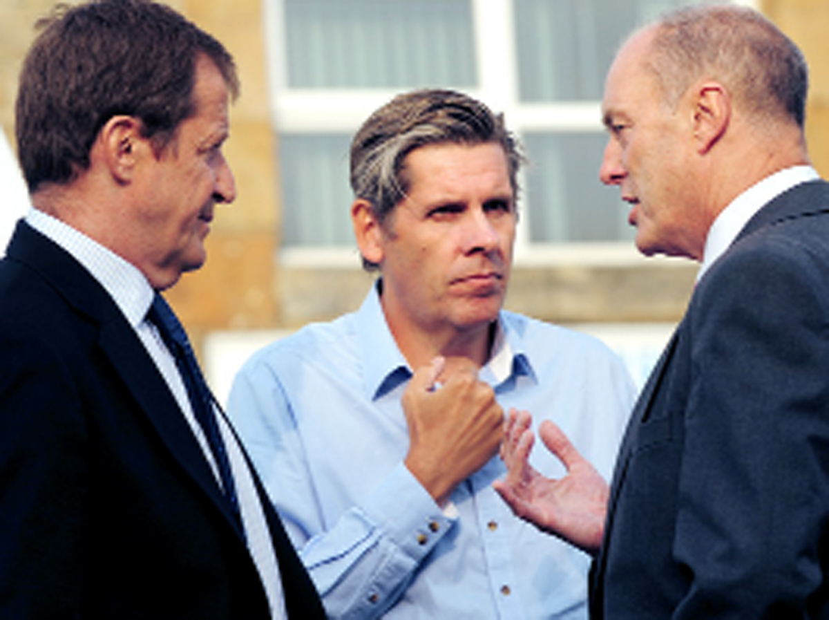 Alastair Campbell, Tony Livesey, and MP Gordon Birtwistle