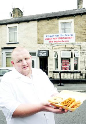 Padiham chippy sign is racist - claim