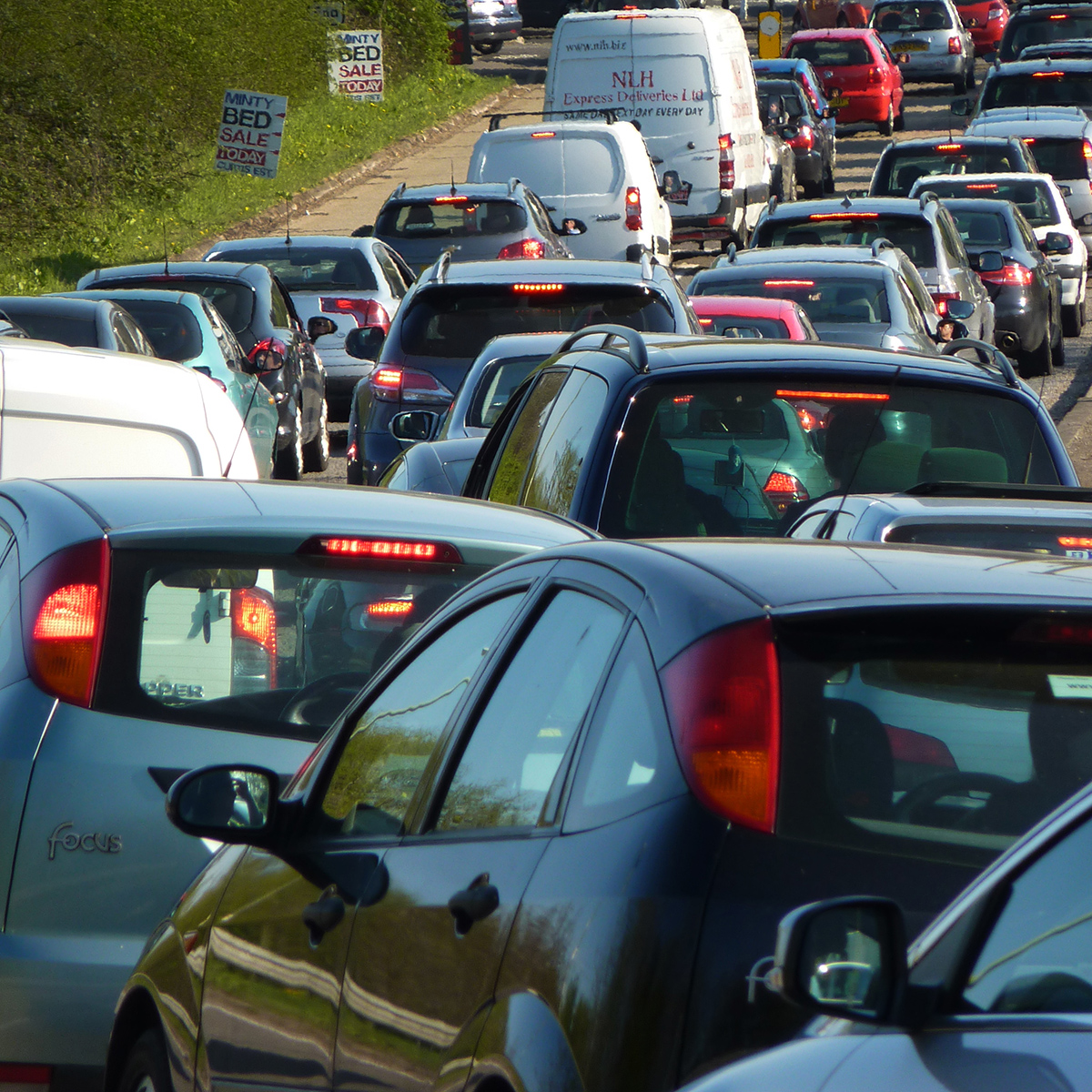 Rolling block on M65 lifted after car crash