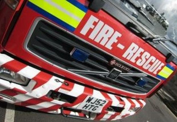 Firefighters dismantle caravan in Bacup to tackle fire