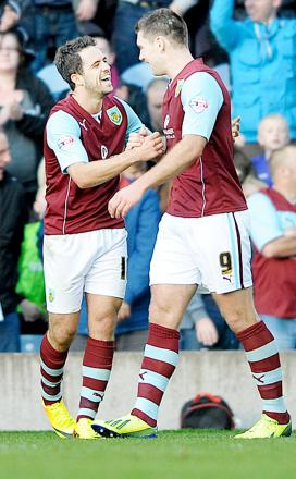 Danny Ings and Sam Vokes have helped Burnley open up a big gap over Rovers