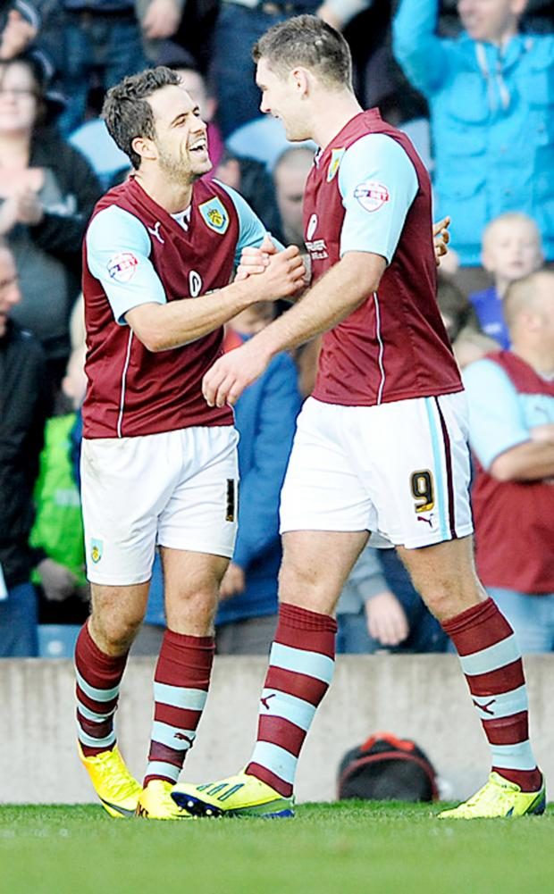 Lancashire Telegraph: Danny Ings and Sam Vokes have helped Burnley open up a big gap over Rovers