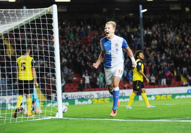 Jordan Rhodes is a player to celebrate but times have not always been easy for Rovers fans