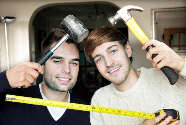 Oliver Piotrowski and Chris Shaw, from Blackburn