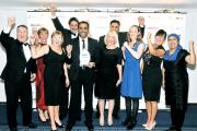 The Healthy Living team celebrate their award