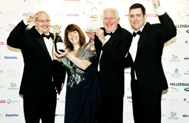 From left, operations manager Stuart Park, financial director Michelle Cooper, MD John Lenehan and business development director David Lenehan