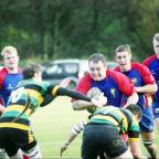 Lancashire Telegraph: Try scorer Liam Oldham on the charge for Blackburn