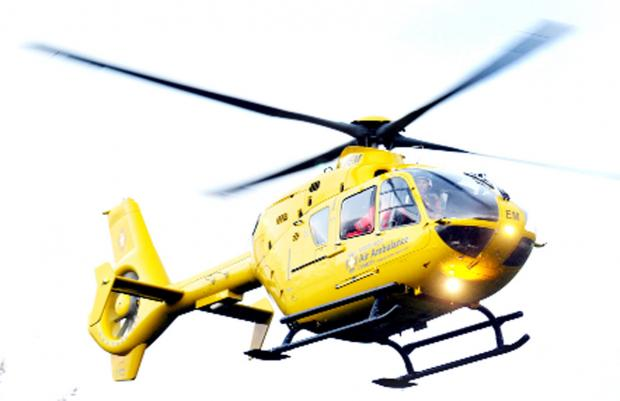 Man airlifted to hospital after tractor overturned in Pendle