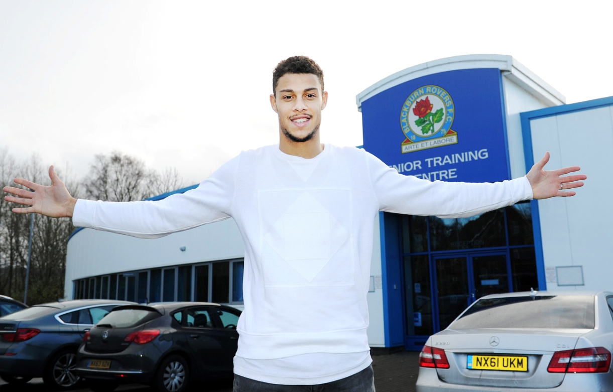 Rudy Gestede celebrates signing for Blackburn Rovers on a permanent deal