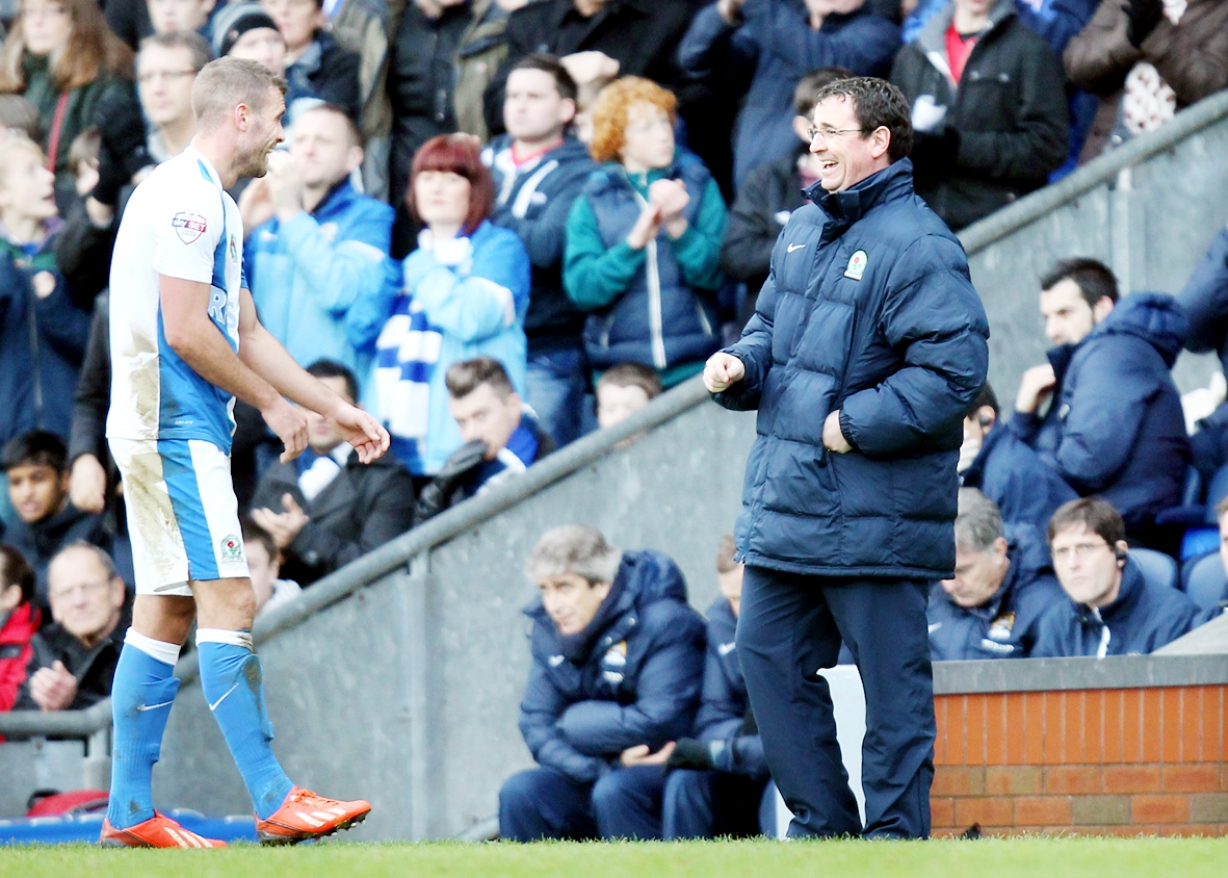 Tommy Spurr and Gary Bowyer share a joke on Saturday