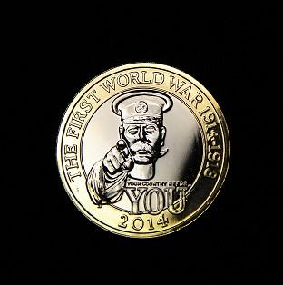 The Royal Mint's commemorative �2 coin shows an image of Lord Kitchener and