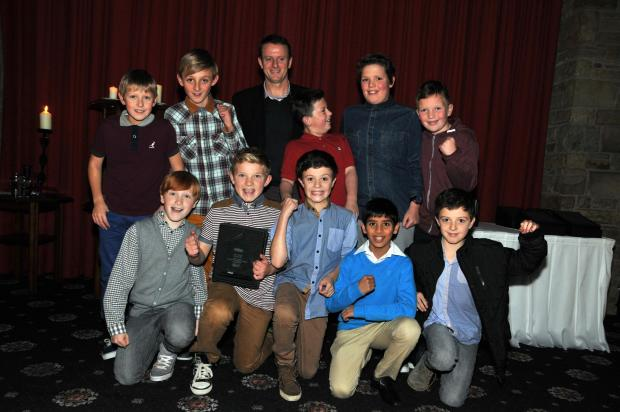 People Choice's winners 2013 St Francis School with Kevin Gallacher