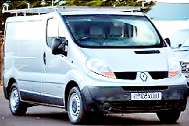 A silver Renault Trafic van, similar to the one which was stolen