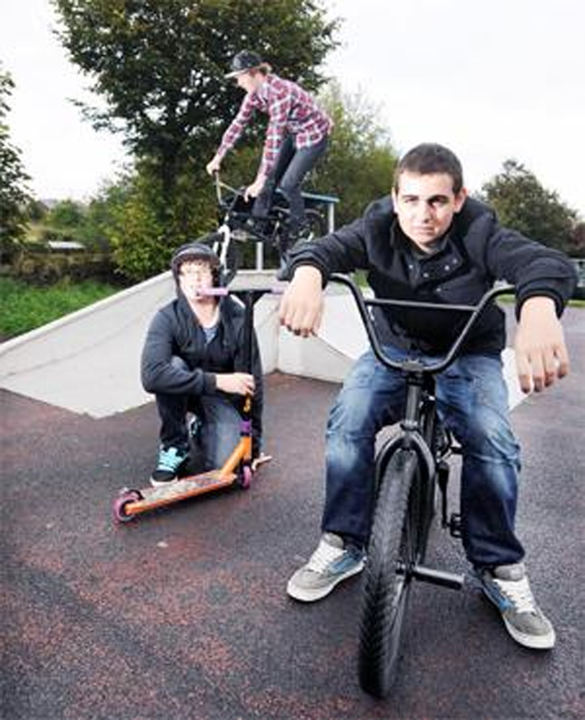 Michele Melia (right) who tried for the skate park