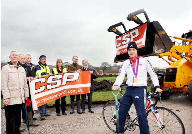 Olympic hero Steven Burke tests out new cycling hub