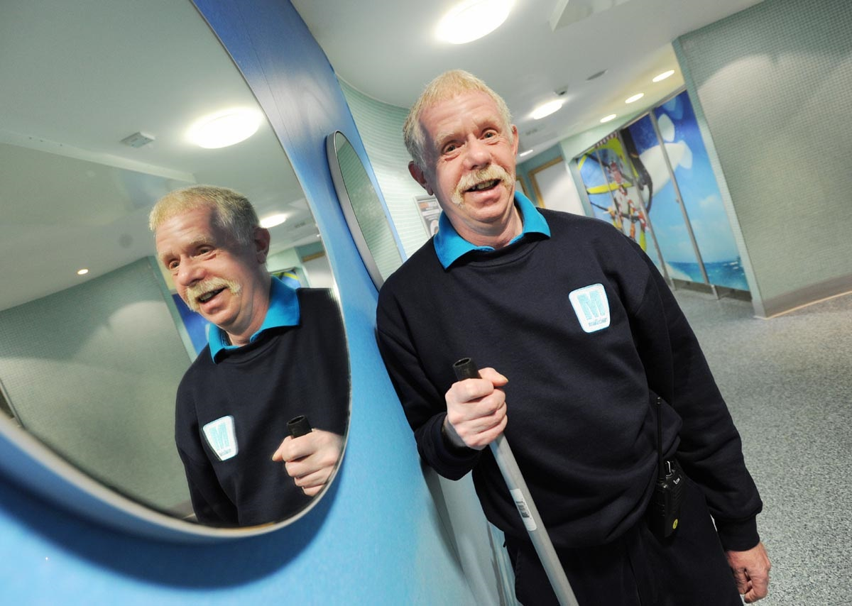 Peter Haddock best loo attendant in country