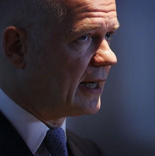 William Hague said both sides in the Syria conflict 'should seize chance to end the war'