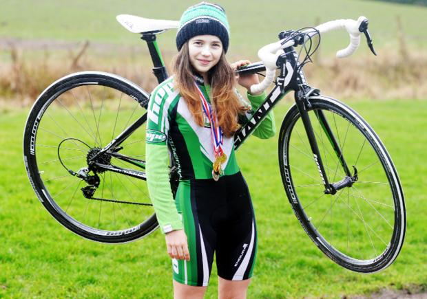 Lucy Horrocks is making a name for herself thanks to her efforts on her bike