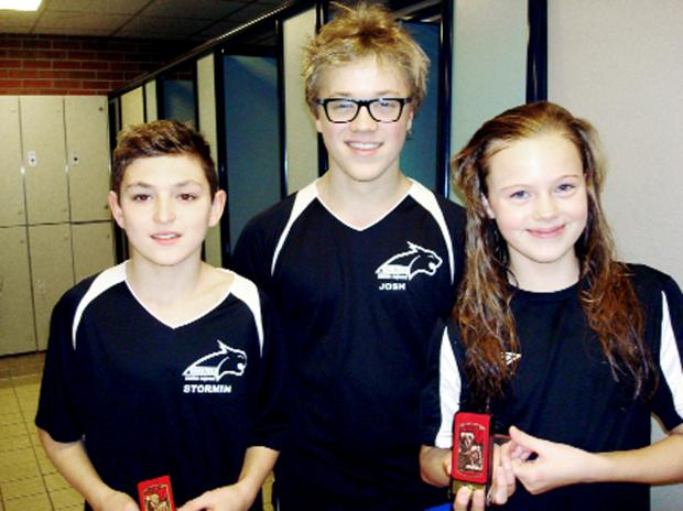 From left to right Elliot Norman, Joshua Lambert and Lily-Grace Duckworth