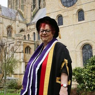 Jo Brand has been awarded an honorary doctorate for her work in mental health nursing