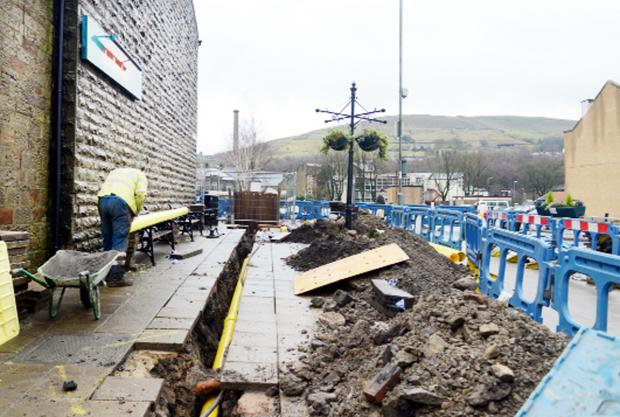 The £7million scheme by United Utilities to revamp the sewer network in Rawtenstall.