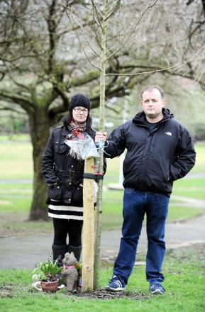 Great Harwood couple's anger at 'insensitive' letter over baby's memorial tree