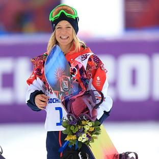 Jenny Jones claimed bronze in the women's snowboard slopestyle