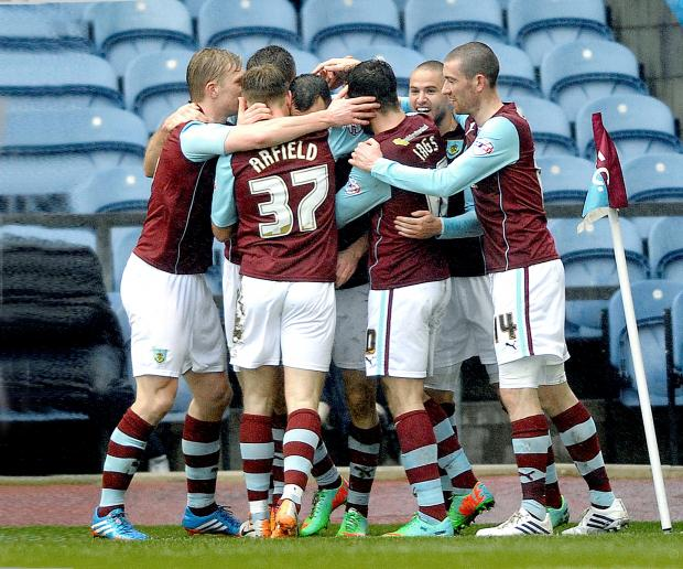 Burnley celebrate their win over Millwall