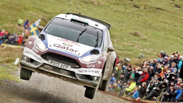 Daniel Barritt and Elfyn Evans were forced to pull out