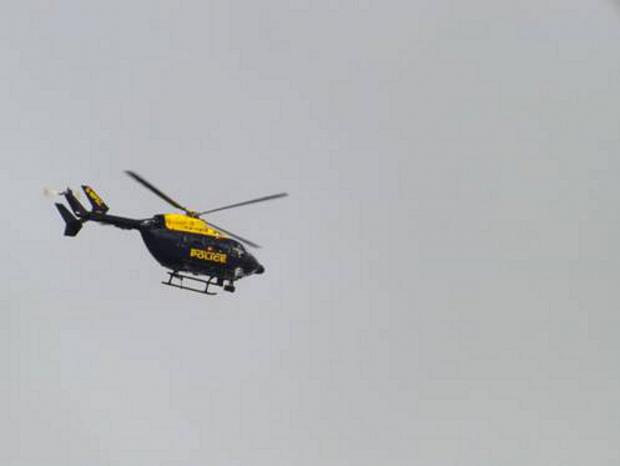 Lancashire Police helicopter joins in hunt for two men stealing paving stones