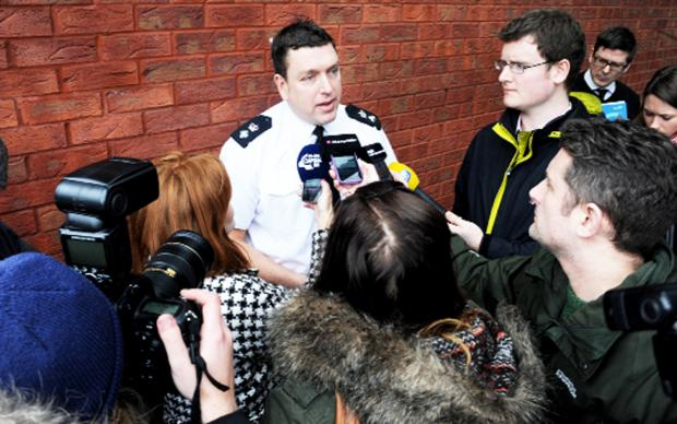 Lancashire Telegraph: Chief Supt Chris Bithell during yesterday's press conference
